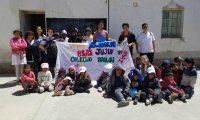 Estudiantes solidarios llegaron a Jujuy con donaciones para cuatro escuelas